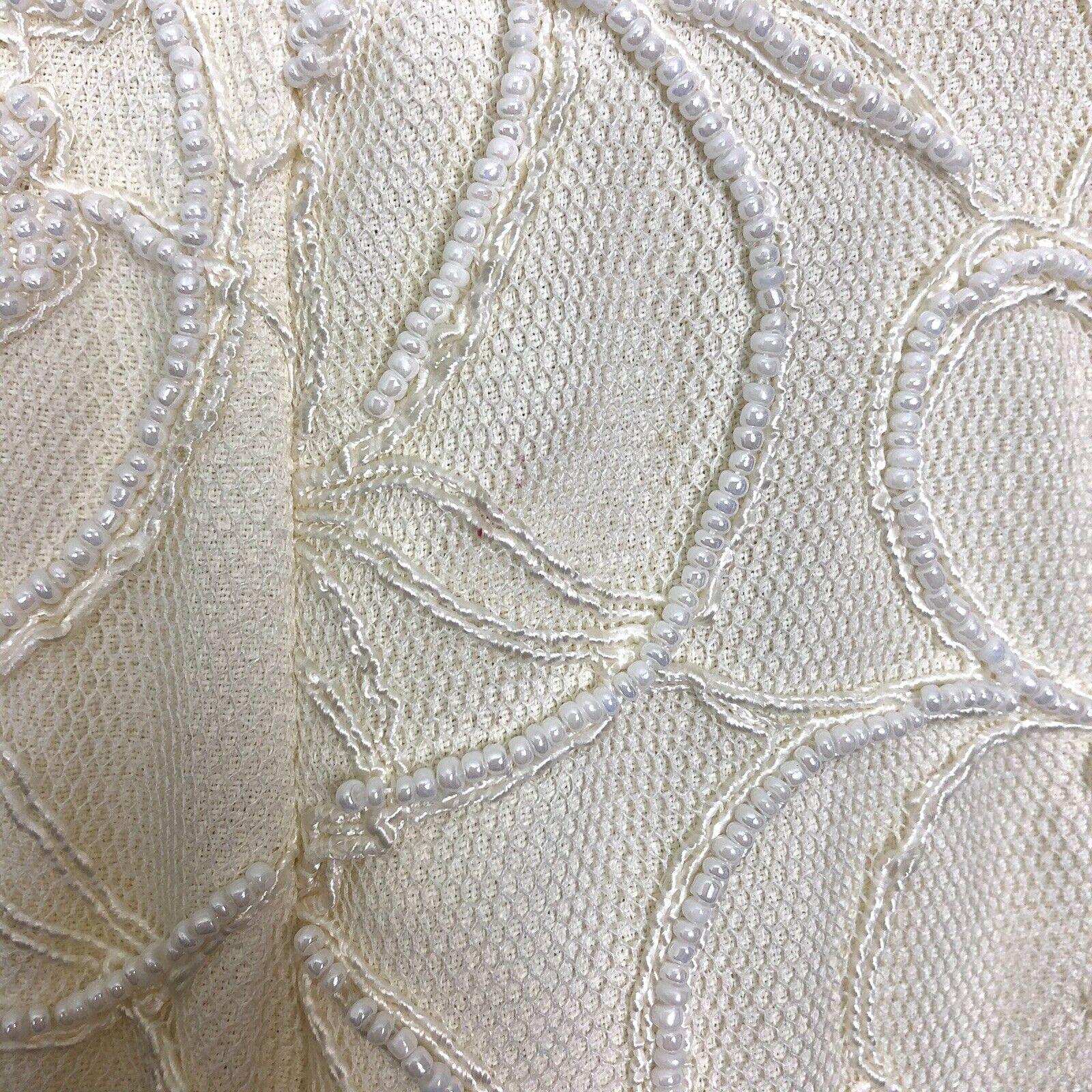 Marie St Claire Long Jacket Vintage Sz 12 Pearl B… - image 5