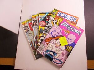 MARVEL-1-COMIC-BOOKS-5-pcs-FIRESTARTER-ROBOTIX-THE-DEEP-CAPT-AMERICA