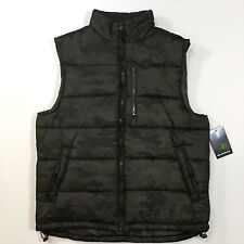 Nordic Track Camouflage Camo Men's Puffer Vest 100% Polyester Size Medium