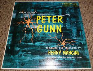 PETER-GUNN-TV-Soundtrack-LP-Vinyl-Record-Album-HENRY-MANCINI-Original-from-1959