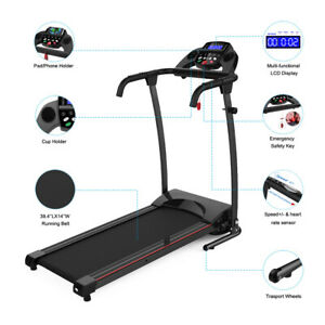Details about  /750W  Foldable Electric Motorized Treadmill Running Jogging Gym Power Machine