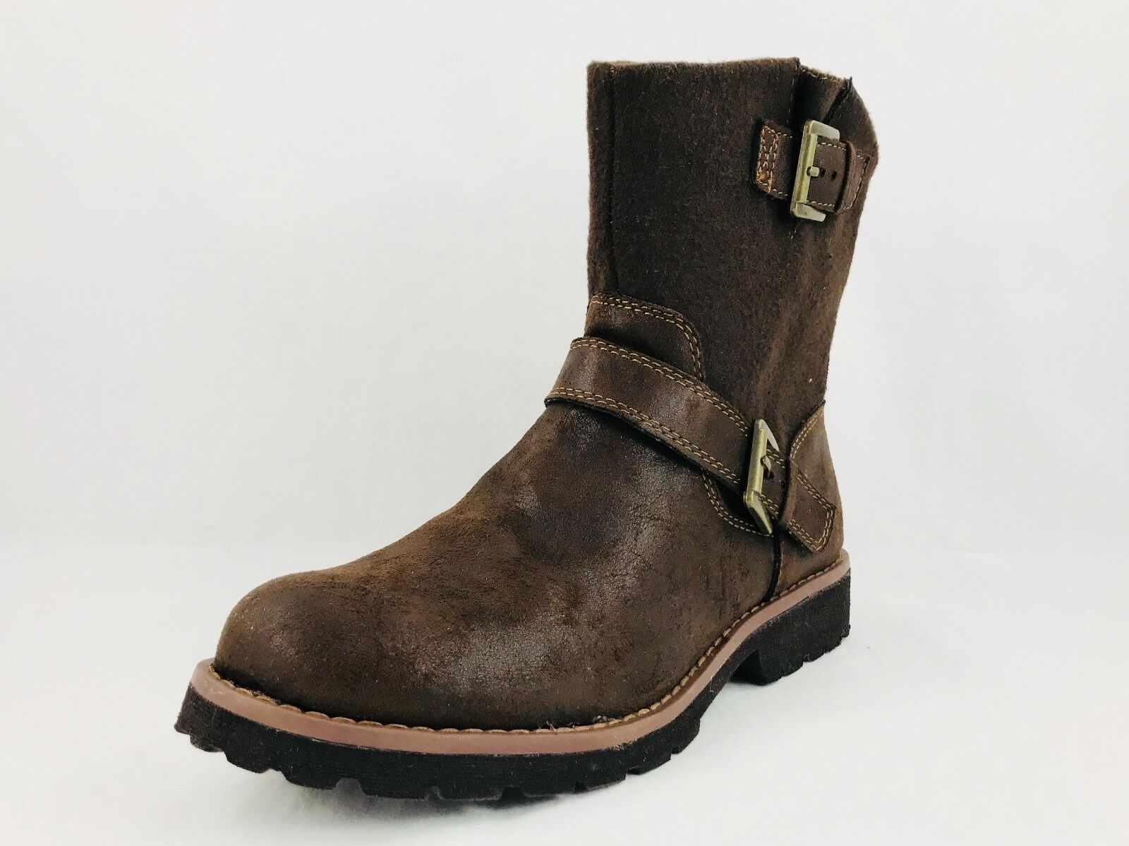 Born Concepts B.O.C. Volos Side Zip Braun Fabric Boot Damenschuhe Sz 9