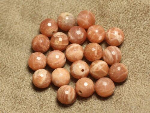 Perles Pierre de Soleil Boules Facettées 10mm   4558550024985 4pc