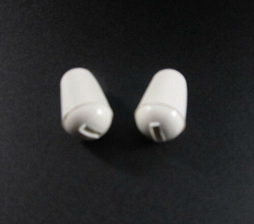 Pair of White Switch Tips for Fender Stratocaster & Squire 5-Way Switches