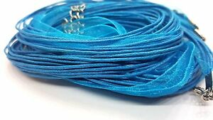 5-Pcs-4-Strands-Silk-Organza-amp-Cotton-Cords-Ready-Necklace-18-034-Turquoise