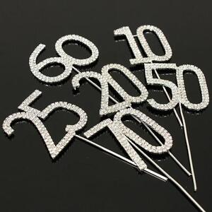 Rhinestone-Diamante-Decorating-Gem-Cake-Pick-Number-Topper-Anniversary-Birthdays