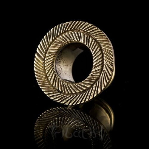 4mm Pluma Con Textura De Latón ojales túneles EAR 3 código 20mm