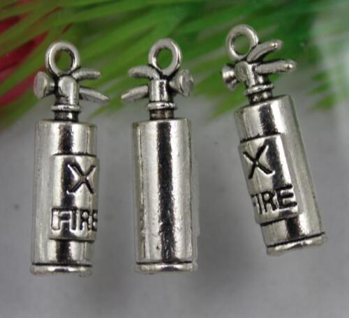 Free shipping 20//40pcs Retro Style Fire extinguisher alloy Pendants 22x8mm