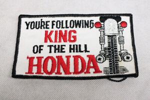 "Vtg Honda Motorcycle USA Flag Denim Jacket Patch 3.5/"" x 3/"" 1970/'s Japanese"