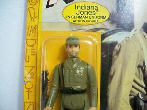 K1864741 Indiana Jones uniformes allemands Moc neufs sur carte 1982 Vintage Kenner
