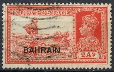 Cheap Sale Bahrain 1938-41 Sg#24 British Colonies & Territories 2a Vermilion Kgvi Used #d82545