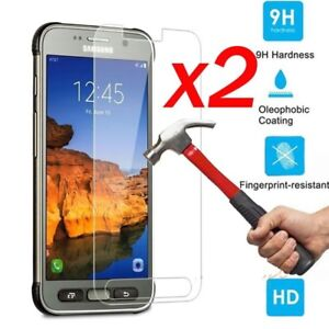 2x-9H-Tempered-Glass-Screen-Protector-For-Samsung-Galaxy-S5-S6-S7-S8-Active-New
