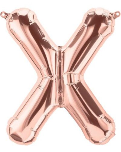approx. 40.64 cm Globos De Papel De Aluminio 16 in De Oro Rosa A-Z Alfabeto Completo Globos De Carta Grande Reino Unido
