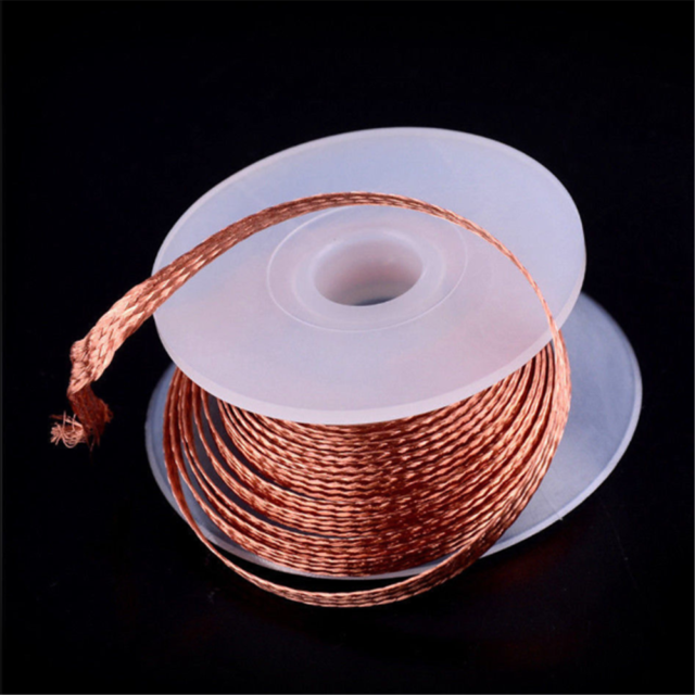 Desoldering Braid Solder Remover Copper Wick Wire Repair Tool 1.5M 3.5mm