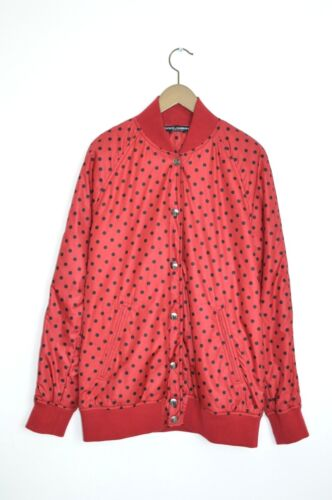 Brand New Dolce & Gabbana Ladies Polka Dot Bomber Jacket uk6 eu34 us2 afficher le titre d'origine