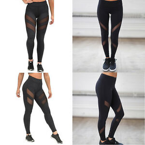 UK-Womens-Sports-Gym-Yoga-Running-Fitness-Leggings-Pants-Jogging-Trousers-S-XL