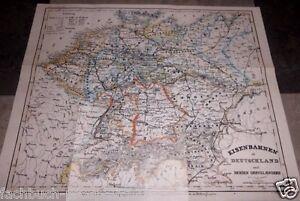 deutschland 1841 karte 1841 Eisenbahn KARTE DEUTSCHLAND PL UNGARN ÖSTERREICH SCHWEIZ