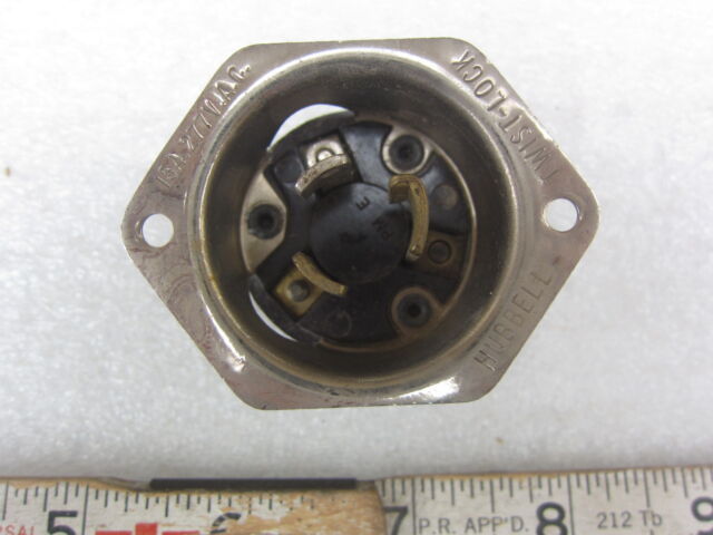 HBL4786 HUBBELL Flanged Inlet 2-Pole 3-Wire  L7-15P NEW!!!! 15A 277V AC