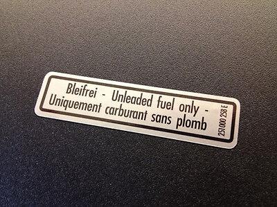 T3 MV Westfalia Unleaded Fuel Sticker 251 000 258 E