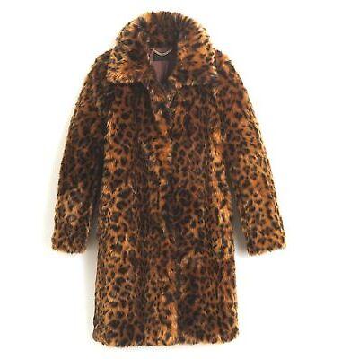 J.Crew Collection Faux-Fur Leopard Print Coat XS,S,M, L, XL,XXL,2X G9553 $298