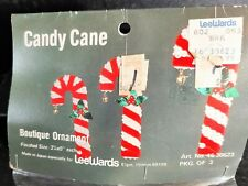 Walco Holiday CANDY CANES AND LOLLIES Vintage Sequin Bead Christmas Ornament Kit