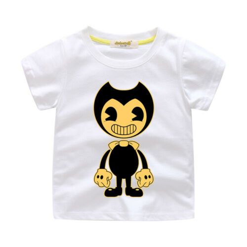 Bendy and The Ink Machine Animation Horror Game Inspired Kids Boy Cotton T-Shirt