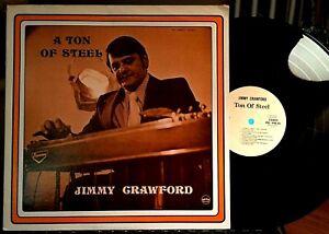 JIMMY-CRAWFORD-LP-A-TON-OF-STEEL-Prize-PRS-498-05-1973-EX-Buddy-Spicher