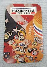 Old 1991 Presidential Fact Finder Pull Slide Card FREE S/H