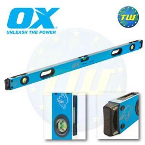 Ox Tools Pro Spirit Level 1200mm 4ft 48in 120cm 3 Vial