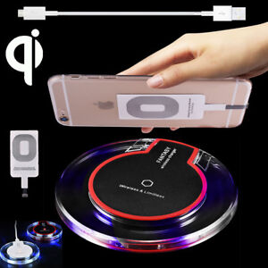 free shipping c72d4 d1af0 Clear Qi Wireless Fast Charger Mat Charging Pad +Receiver F iPhone X ...