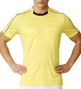 La Fourniture Adidas Referee Mens Short Manche Jersey-yellow-afficher Le Titre D'origine