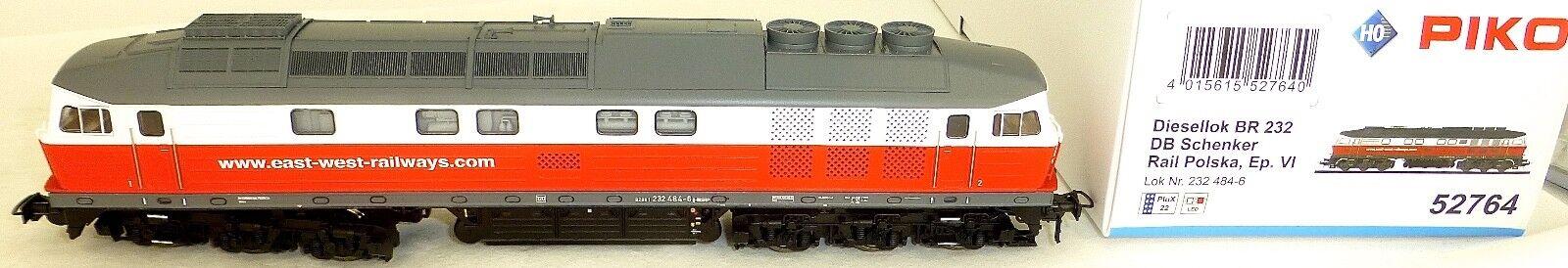 Br 232 484-6 Srp Polska East West Rail Ep Vi Dss Piko 52764 H0 1 87 New HV1 Μ