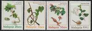 (225)MALAYSIA 1998 MEDICINAL PLANTS OF MALAYSIA SET FRESH MNH