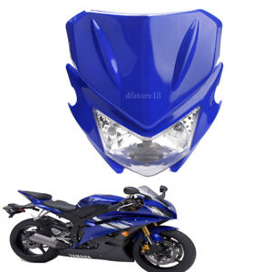 blue-moto-phare-headlight-dual-sport-carenage-lampe-pour-YAMAHA-Street-Fighter