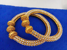 Indian Jewelry Bangle For Gift Bollywood Ethnic Gold Plated Traditional