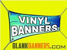 One (1) WHITE 4 ft. X 10 ft. Sewn Vinyl Blank Banner Sign 13oz. 4x10