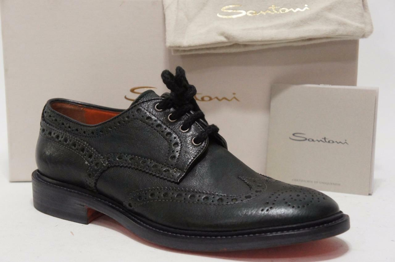 SANTONI WINGTIP OXFORD LACE-UP CASUAL scarpe 8.5 9.5 D  975
