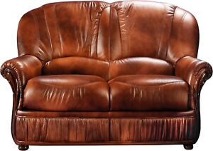 Brilliant Details About Bella Brown Luxurious 100 Genuine Italian Leather Loveseat Two Seater Couch Caraccident5 Cool Chair Designs And Ideas Caraccident5Info