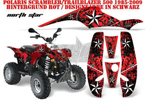 AMR RACING DEKOR GRAPHIC KIT ATV POLARIS SCRAMBLER/TRAILBLAZER NORTHSTAR B