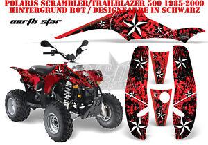 AMR RACING DEKOR GRAPHIC KIT ATV POLARIS SCRAMBLER/TRAILBLAZER NORTHSTAR B