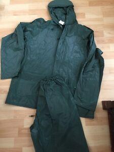 Bass Pro Shops Pluie Veste Coupe-vent Et Pantalon Homme Taille L Vert-afficher Le Titre D'origine