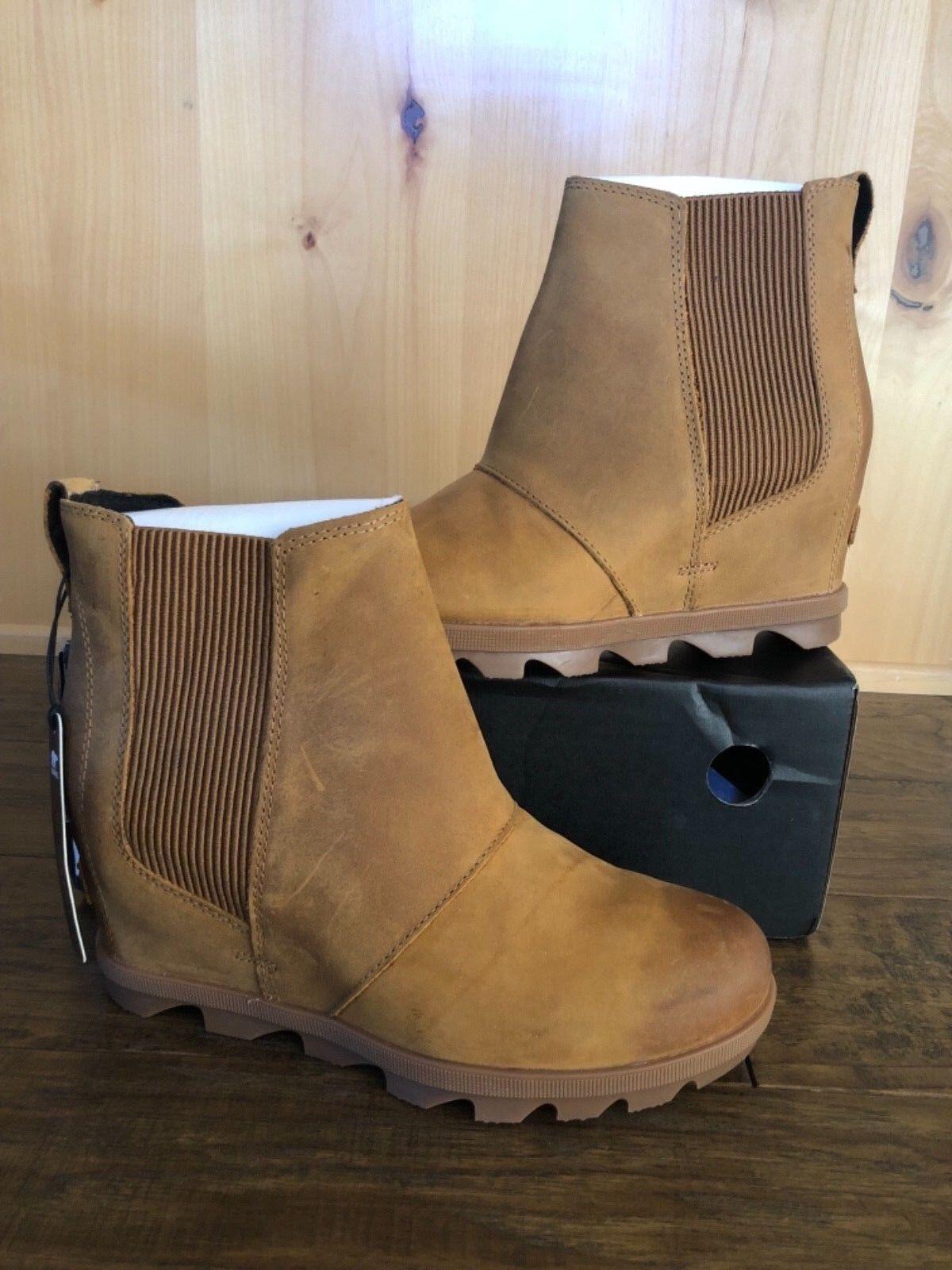 Sorel Joan Of Artic Chelsea wedge boots 8 Ex Lea Brand New in box Store Display