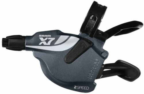 SRAM X7 2 Speed left Trigger Shifters  COMING WITH CABLE AND CLAMP