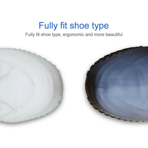 2x Unisex Reusable Anti-Slip Silicone Waterproof Overshoes Covers Rain Boot Gear