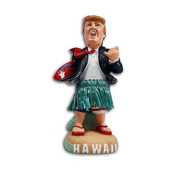 Hawaiian Dashboard Trump Hula Doll Surfer Poly Resin Hawaii Collectable NIB