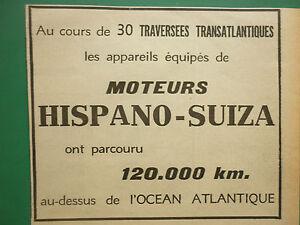 1936-1940 PUB COMPAS VION RECORDS AERONAUTIQUES 100 TRAVERSEES ATLANTIQUE AD