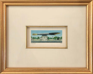 FANNY BRENNAN - Custom Framed 'Pink House' Hand-Signed LE Lithograph