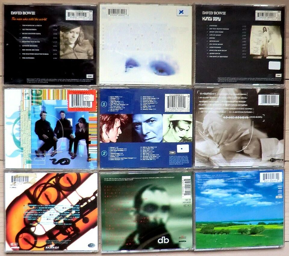 David Bowie: David Bowie samling - 9 cd-albums, rock