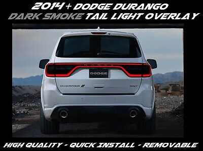 Dark Smoke Bogar Tech Designs Tail Light Tint Kit Compatible with and Fits Dodge Durango 2014-2021