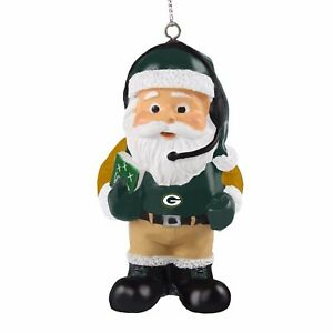 image is loading green bay packers coach santa resin holiday christmas - Green Bay Packers Christmas Ornaments